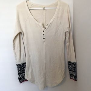FREE PEOPLE DETAILED CUFF LONG SLEEVE